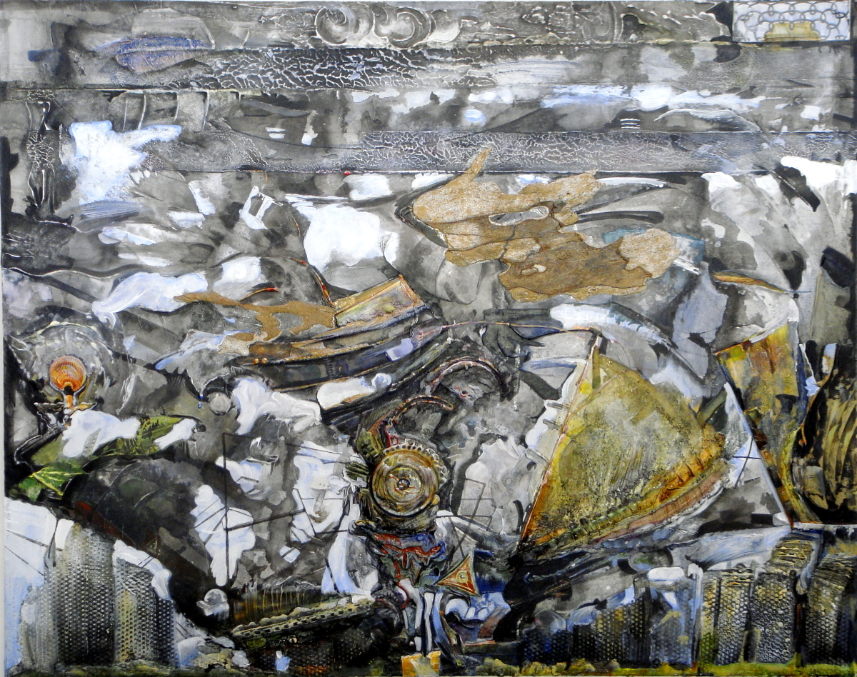 Annelies van Dommelen • Windmachine • venetian plaster, acrylic, sycamour, graphite • 33 x 38 Inches • 2017
