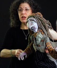 Bonnie A. Berkowitz with Ferryman puppet