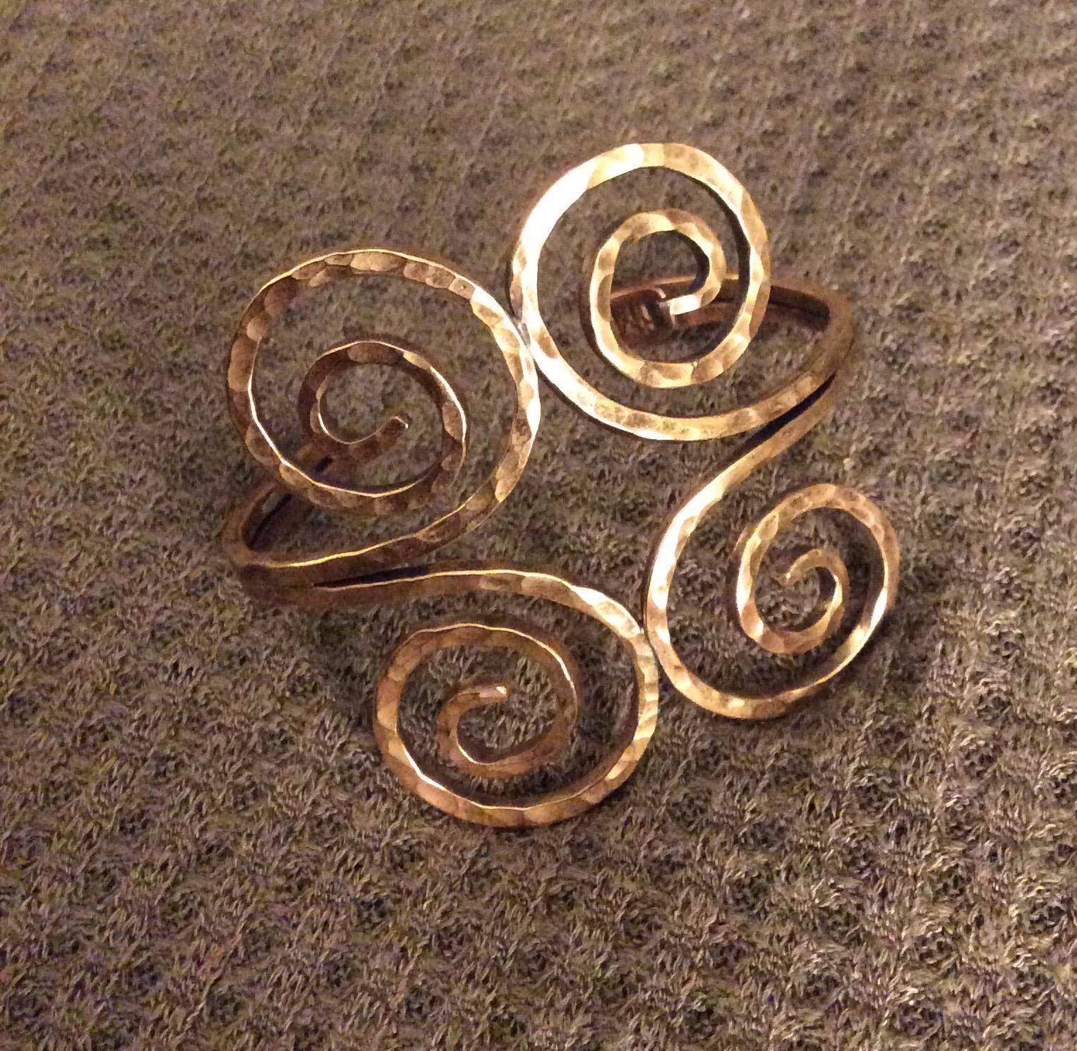 Christine Mundy • Spiral Bracelet • Bronze • 2.5 x 3.5 x 2.5 Inches • Bracelet forged from bronze wire • 2018