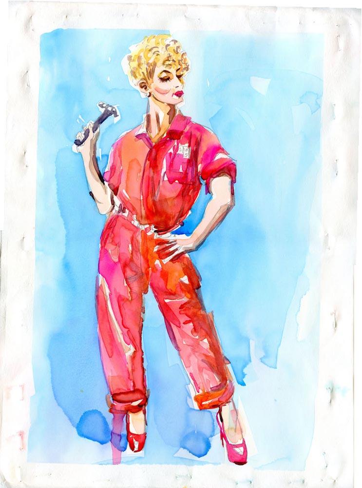 JaneDKunzman RUTHIE watercolor 7x10inches