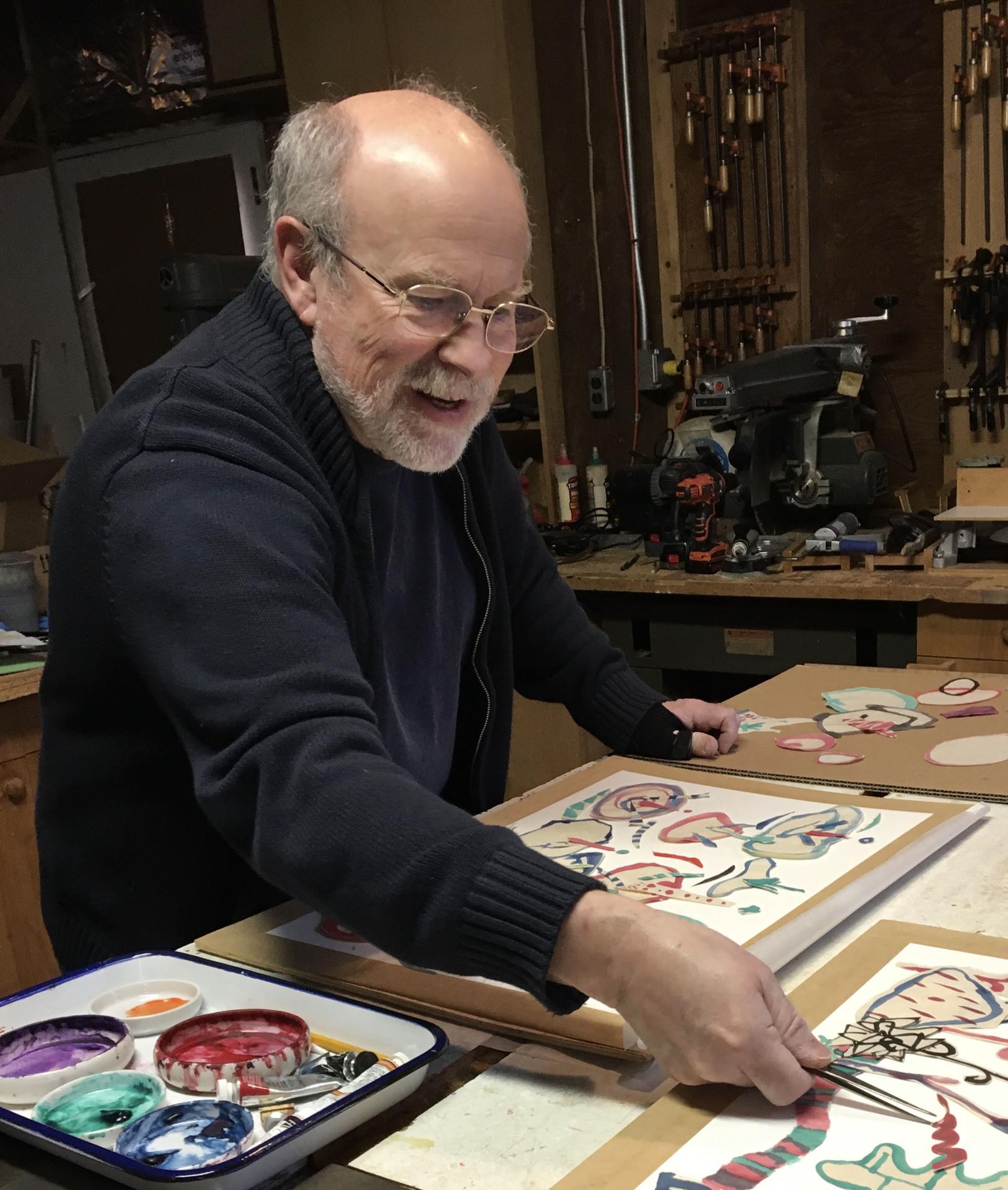 Michael McFadden • Artist in studio • Photograph • 6 x 4 x .1 Inches • 2019