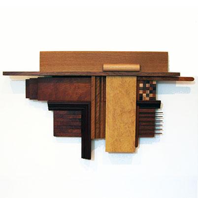 Robert Reid • Untitled • Wood • 23 x 32 x 3 Inches • 2014