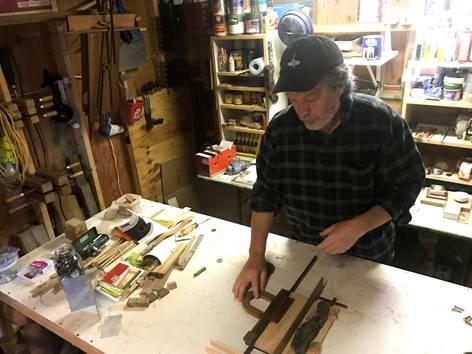 Robert Reid in his studio