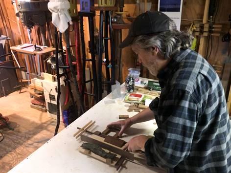 Robert Reid working in his studio