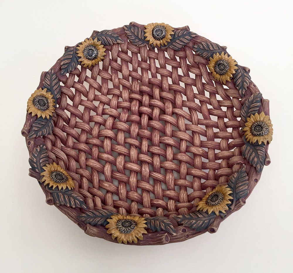 Susan Wechsler • woven clay platter